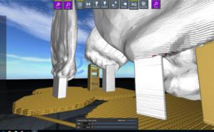 Modell und Stützstruktur